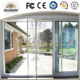Porte coulissante d'usine de certificat de la CE des prix de la fibre de verre UPVC de bâti en plastique bon marché approuvé de profil avec le gril à l'intérieur