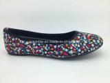 Ботинки балета балерин флористической холстины плоские для повелительницы