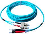 50/125 de cabo de correção de programa da fibra óptica do duplex 3.0mm SC/PC-FC/PC - 3m