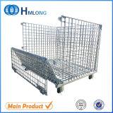 Heavy Duty plegable de alambre de malla Pallet Container
