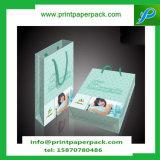 Bolsos impresos grandes del regalo del papel de Kraft del brillo decorativo del diseño de la vendimia con la maneta