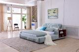Кровать ткани мебели спальни самомоднейшей конструкции (BM7002)
