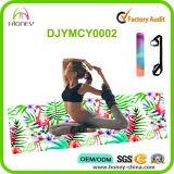 Наградная циновка йоги природного каучука и фламингоа Microfiber напечатанная таможней