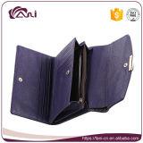 Raccoglitori e borse del cuoio della pelle del coccodrillo di colore viola di Fani piccoli per le donne