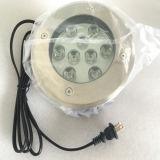Luz subterráneo de AC100-240V/DC12V/DC24V IP67 LED para la iluminación exterior