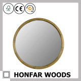 """рамка зеркала 16 """" диаметров круглая самомоднейшая деревянная для украшения стены"""