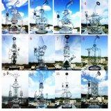 Tubo de agua de cristal de la seguridad del fabricante de China que fuma y de la burbuja embriagadora de cristal alta rápida del cubilete de los tubos del vidrio del cenicero del arte del tazón de fuente del color del reciclador del tabaco de la salida