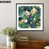 Stampa della tela di canapa dei fiori di tropico di arte della parete del Cycas