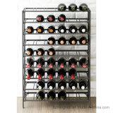 Soporte de visualización plegable del organizador del almacenaje del sótano del estante del vino del metal de 54 botellas
