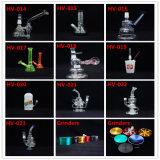 Einzelner Arm-rauchendes Wasser-Rohr des Hourglass-Hv-013 mit blauer Farbe