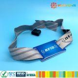 Wristband ткани RFID NFC празднеств нот изготовленный на заказ для случаев