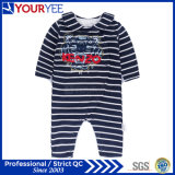 新しく長い袖は安い赤ん坊が着せる幼児Onesieを縞で飾る(YBY116)