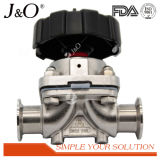 Válvula de diafragma sanitária manual do aço inoxidável