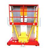 elevador hidráulico dobro de plataforma de trabalho aéreo do mastro de 6m (fabricante direto)