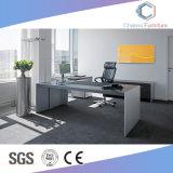 現代木表L形マネージャの机のオフィス用家具