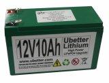 Nachladbare 12V10ah LiFePO4 Anfangsbatterie mit hohem Entladungsstrom
