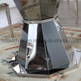 新しい! 一流の現代ステンレス鋼表。 そしてShome及び庭が付いている椅子