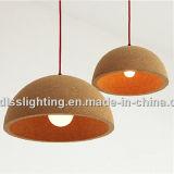 Indicatori luminosi di legno della sospensione della sala da pranzo originale moderna del sughero