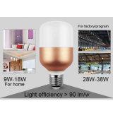 lámparas del bulbo de la Thr-Prueba LED de 9W 13W 18W 28W 38W Globle