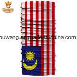 Изготовленный на заказ эластичным Bandana полиэфира напечатанный национальным флагом безшовный (25*50 CM)