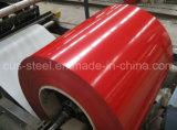 De kleur Met een laag bedekte Rol van het Staal, de Witte Vooraf geverfte Gegalvaniseerde van het Staal Ral9002 van de Rol Bouwmaterialen van de Bladen van het z275/Metal- Dakwerk