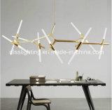 Luz italiana del colgante de la ramificación del restaurante G9 LED del arte de la suspensión de Metal&Glass del estilo
