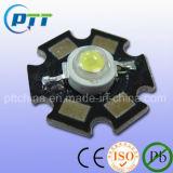 알루미늄 격판덮개, 열 싱크 격판덮개를 가진 힘 LED를 가진 1W 3W 별 고성능 LED