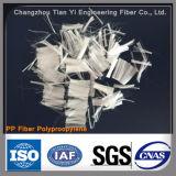 Monofilamento del polipropileno (fibra de la fibra de los PP) usado en el refuerzo concreto