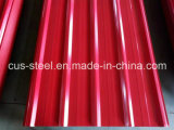 Strato ondulato variopinto del tetto/lamiera di acciaio galvanizzata ricoperta colore