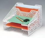 장식적인 책상 조직자 금속 메시 문구용품 조직자 사무실 책상 부속품
