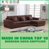 Mobília dourada do sofá do canto da tela da qualidade de Dinamarca