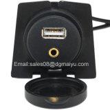 2 de Vloed van de Kabel van de meter USB & van de Uitbreiding Aux van 3.5mm zet 1/8 Lood van Motercycle van de Boot van de Fiets van de Auto Aux op
