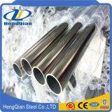 tubo de acero inconsútil inoxidable decorativo del espesor 304 de 2m m