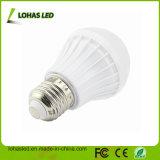 E27 B22 110-240V 3W-15W chauffent l'ampoule en plastique blanche froide d'éclairage LED