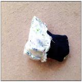 Gant pointillé simple de jardin de coton de PVC avec du coton pointillé par poignet de Knit (2620)