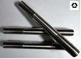 Стержень продетый нитку головкой DIN939 высокого качества B7 двойной для черноты