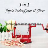 진공 흡입 기초 - 스테인리스 잎 Esg10159를 가진 싱크대를 위한 Spiralizer Apple Peeler를 자전하는 무쇠를 가진 Apple Peeler Corer 저미는 기계 기계