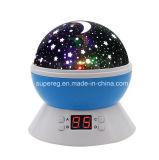 7つのLEDによって変更されるカラー回転星の空の投射夜タイマーライトランプ