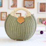 Señora tejida shell Handbags de la mujer del bolso de la playa de la paja de la manera