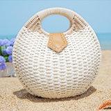 方法わらHandbagsシェルによって編まれる浜袋の女性の女性