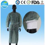 Vestido quirúrgico de SMS Steriled, vestido no tejido reforzado SMS disponible