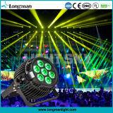 Osram 7 * 15W RGBW faisceau extérieur LED PAR lumière pour l'étape