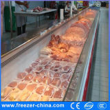 De Zeevruchten van de lage Temperatuur/de Koelkast van de Vertoning van het Vlees