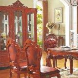 Mesa de jantar e cadeira de braço para conjuntos de móveis de sala de jantar