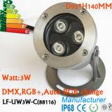 Lumière sous-marine du support DEL de surface de la haute énergie RVB de la qualité 3W
