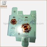 Cartoncillo grueso caja de herramientas de cosméticos de encargo Pasta de dientes caja de empaquetado de impresión