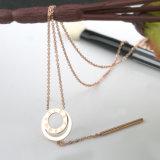 女性方法衣裳のネックレスのステンレス鋼のローマ数字の宝石類のペンダント