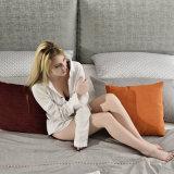 Кровать самомоднейшей конструкции мягкая с чехлом из материи для живущий мебели G7001 комнаты