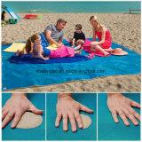 Tovagliolo asciutto della sabbia della spiaggia della prova di picnic della sabbia della stuoia esterna compatta libera generale della spiaggia, impermeabile, ultra del Portable, leggero & compatto veloce Esg10214 grande di spiaggia