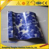 Profil en aluminium d'extrusion avec les graines bleues et blanches de porcelaine